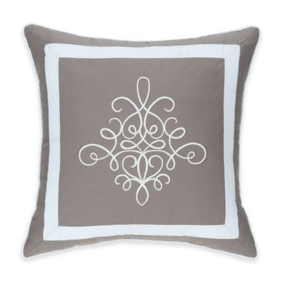 Colonial Williamsburg Eve Embroidered Square Throw Pillow