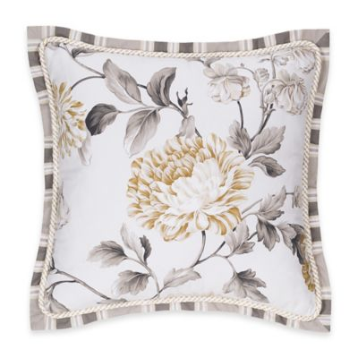 Colonial Williamsburg Eve Floral Square Throw Pillow