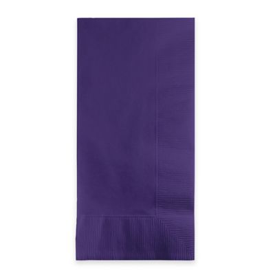 Creative Bath 2-Ply 100-Count Disposable Guest Towels in Purple
