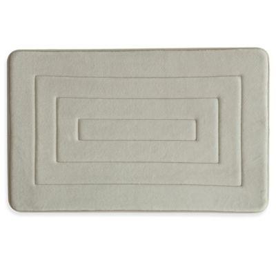 Bacova Microban Concentric 20-Inch x 32-Inch Memory Foam Bath Rug in Linen