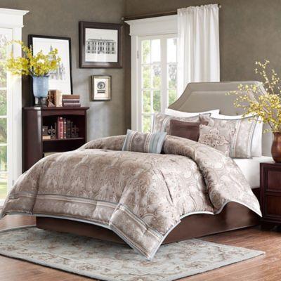 Madison Park Chapman 7-Piece King Comforter Set in Blue