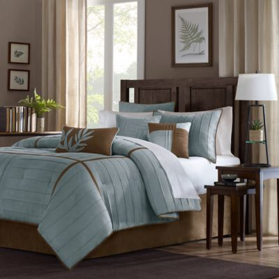 Madison Park Connell 7-Piece California King Comforter Set in Blue