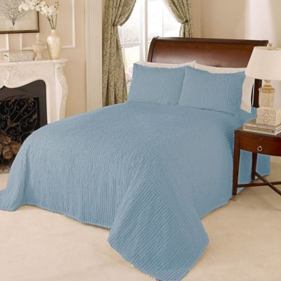 Blue and Green Bedspread