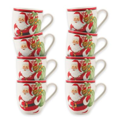 Fitz and Floyd® Letters to Santa Coffee/Cake Mugs (Set of 8)