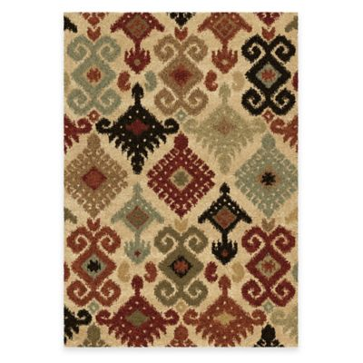 Orian Euphoria Chanelle 5-Foot 3-Inch x 7-Foot 6-Inch Area Rug in Ivory