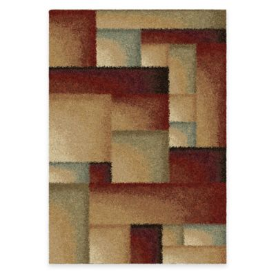 Orian Euphoria Chock A Block 7-Foot 10-Inch x 10-Foot 10-Inch Area Rug in Multi