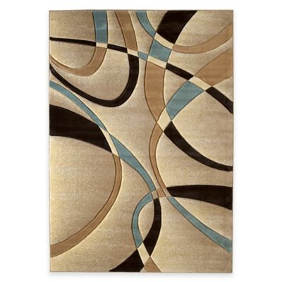 United Weavers Contours La Chic 2-Foot 7-Inch x 7-Foot 4-Inch Runner in Beige