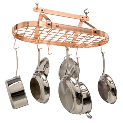 Enclume® Decor Classic Hammered Copper Oval Pot Rack