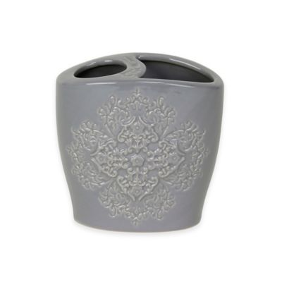 Gray Toothbrush Holder