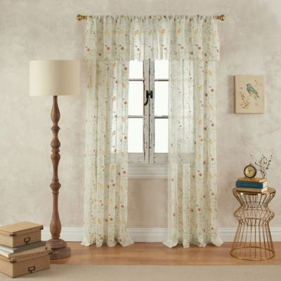 Finch 17-Inch Scalloped Window Valance in Yellow/Green