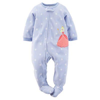 Carter's® Size 24M Polka Dot Princess Footed Pajama in Blue