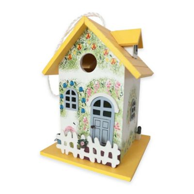 Home Bazaar Flower Cottage Birdhouse