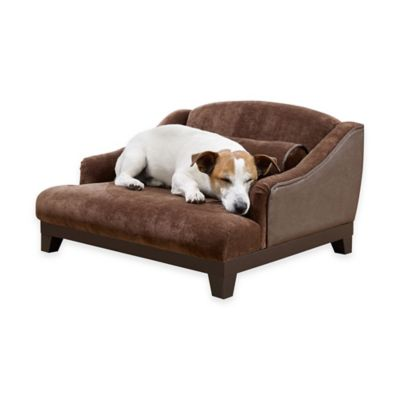 Madison Velvet Sofa Pet Bed in Brown