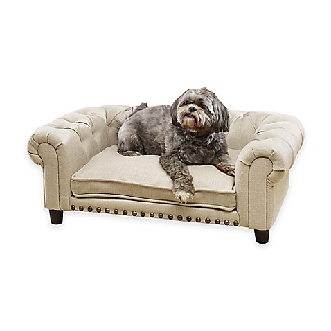 Enchanted Home Pet Melbourne Pet Sofa In Khaki Bed Bath Beyond