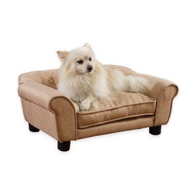Sydney Tufted Pet Bed in Beige
