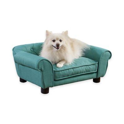 Sydney Tufted Pet Bed in Teal