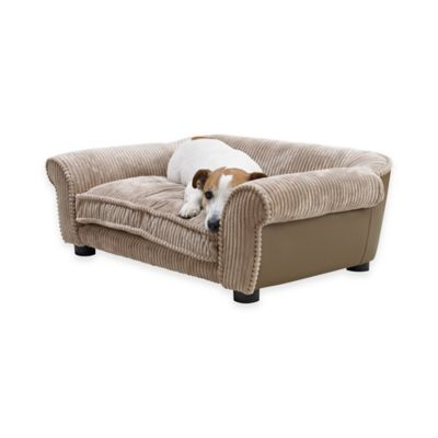 Enchanted Home Slade Sofa Pet Bed in Putty