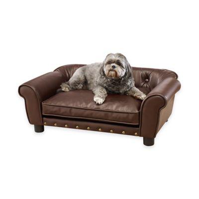 Enchanted Home Brisbane Pet Sofa in Pebble Brown