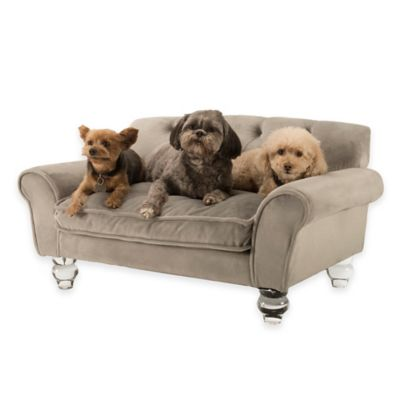 La Joie Velvet Pet Sofa in Grey