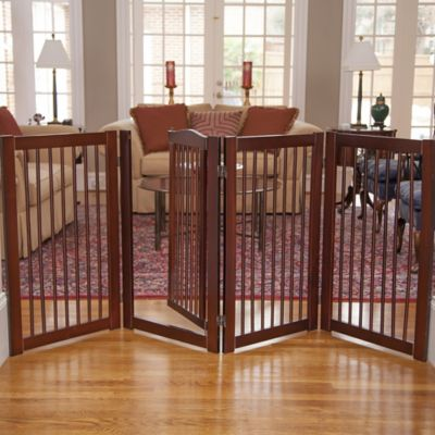 Primetime Petz 360-Degree Configurable Pet Gate with Door in Walnut
