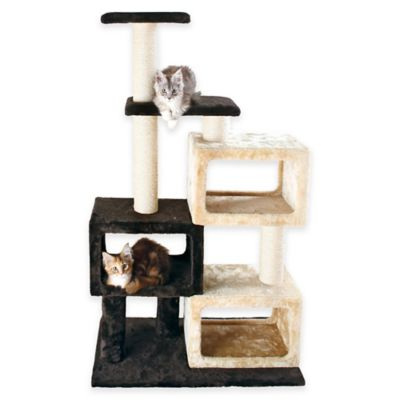 Trixie Bartolo Cat Tree with 3 Condo Cubes in Brown/ Beige