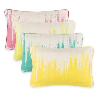 Surya Gruyeres 22-Inch x 14-Inch Abstract Throw Pillow in Lemon