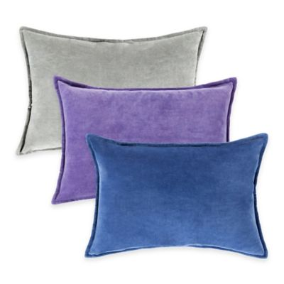 Surya Velizh 13-Inch x 19-Inch Solid Throw Pillow in Charcoal