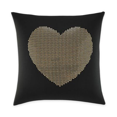 Betsey Johnson® Wild Thing Heart Square Throw Pillow in Black