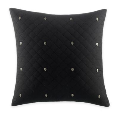 Betsey Johnson® Rock Out Skull Studs Square Throw Pillow in Black