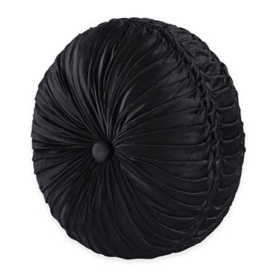 Black Round Pillows