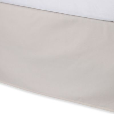 Vera Wang Woven Rib King Bed Skirt in Cream