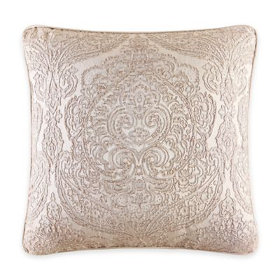 Renaissance Square Throw Pillow in Sand