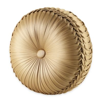 J. Queen New York™ Napoleon Tufted Round Square Throw Pillow in Gold