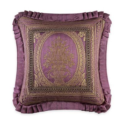 J. Queen New York™ Napoleon Framed Medallion Square Throw Pillow in Merlot