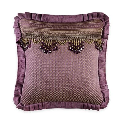 J. Queen New York™ Napoleon Beaded Tassel Square Throw Pillow in Merlot