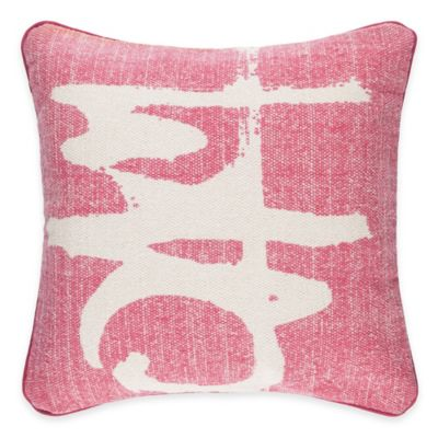 Surya Castig 20-Inch Abstract Throw Pillow in Hot Pink