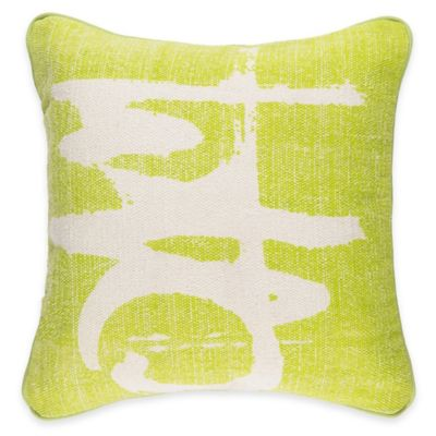 Surya Castig 20-Inch Abstract Throw Pillow in Lime