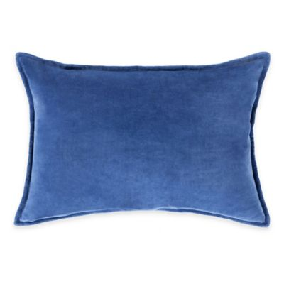 Surya Velizh 13-Inch x 19-Inch Solid Throw Pillow in Cobalt