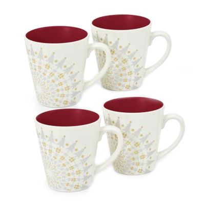 Noritake® Colorwave Holiday Mug in Raspberry (Set of 4)