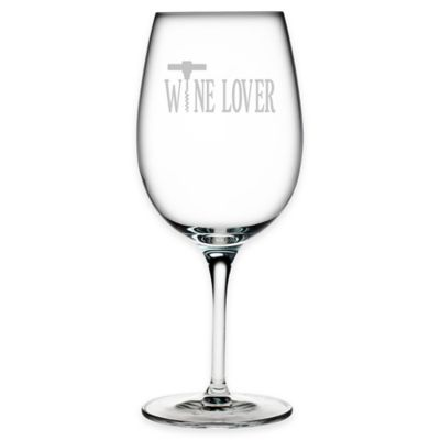 "Etched Wine Lover"" Wine Glass"