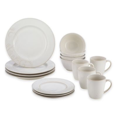 BonJour® Paisley Vine 16-Piece Dinnerware Set in Cream