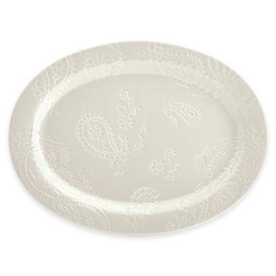 BonJour® Paisley Vine Oval Platter in Cream