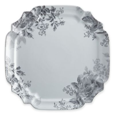 Bonjour Shaded Garden 13-Inch Square Platter