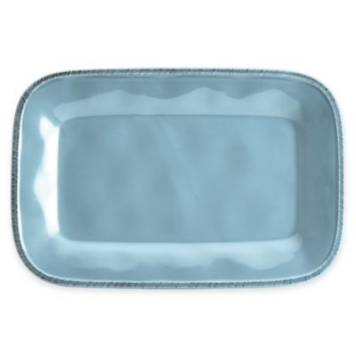 Rachael Ray Cucina Stoneware Rectangular Platter in Blue