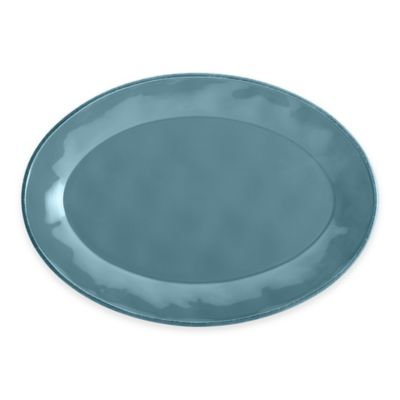 Rachael Ray Cucina Stoneware Oval Platter in Blue