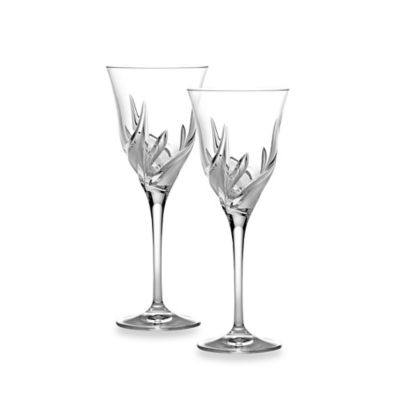 Lorren Home Trends Cetona White Wine Goblets from the DaVinci Line (Set of 2)