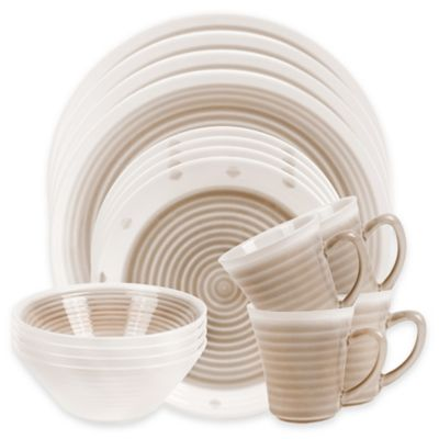 Sango Rico 16-Piece Dinnerware Set in Taupe