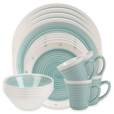 Aqua Dinnerware Set