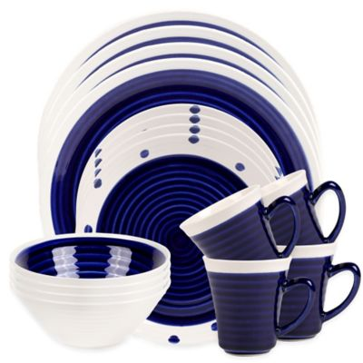 Sango Rico 16-Piece Dinnerware Set in Blue