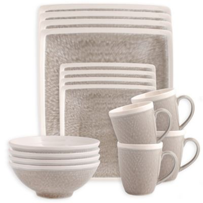 Sango Vega 16-Piece Dinnerware Set in Taupe